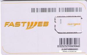 Una delle prime sim Fastweb Mobile