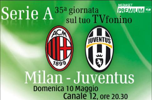 Diretta Milan Juventus