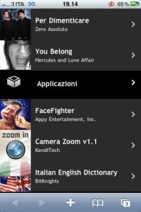 Pianeta3 per iPhone - Applicazioni e musica
