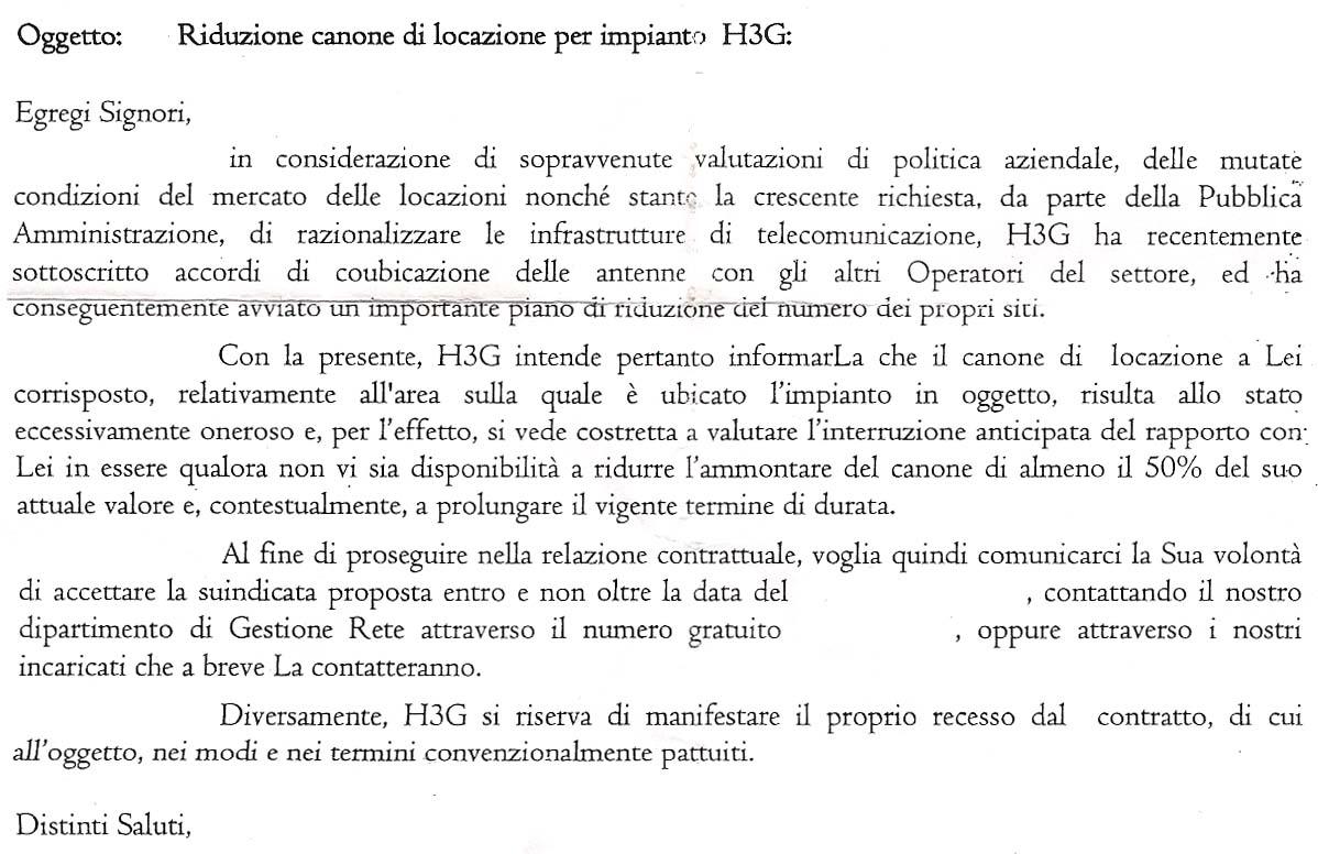 I primi effetti del cositing 3 tim h3g dimezza gli for Rinnovo contratto affitto