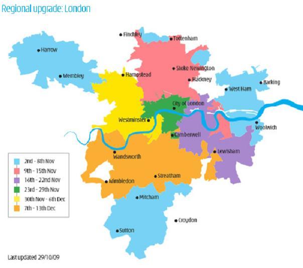 Copertura H3G Londra