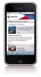 iPhone 3GS by Swisscom