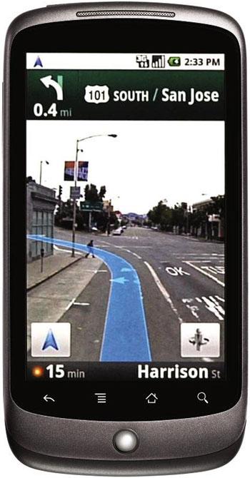 Google nexus one: la navigazione GPS