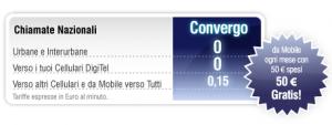 Digitel Italia, tariffa Convergo