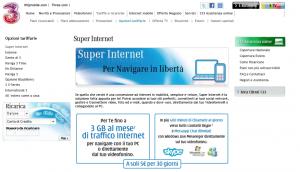 La prima versione di SuperInternet