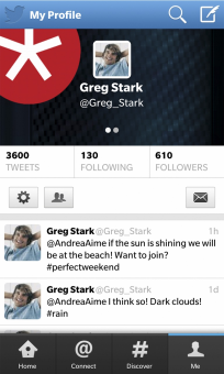 Twitter 10.2 - Blackberry 10