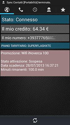 iNoverca (Noverca Plus) - Schermata di standby