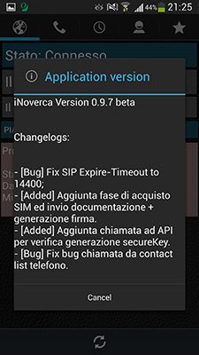 iNoverca (Noverca Plus) - Changelog 0.9.7 beta