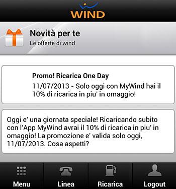 Wind Ricarica OneDay 11 Luglio 2013