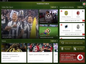 Vodafone Calcio streaming gratis