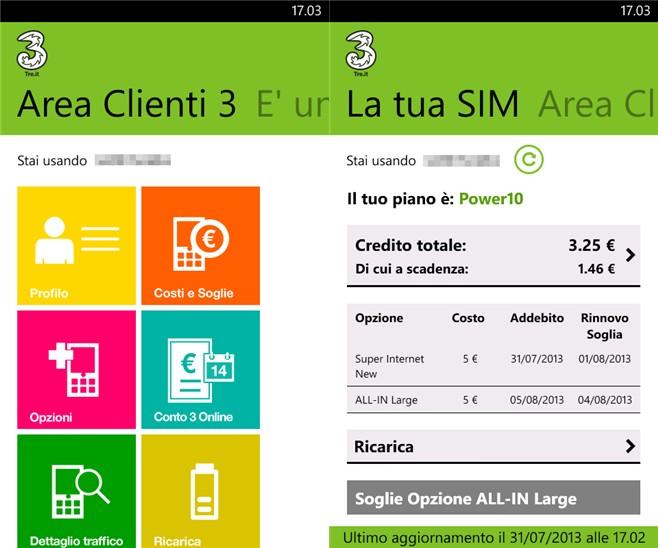 Sospensione servizi selfcare 3 italia tra la notte di for Area clienti 3 servizi in abbonamento