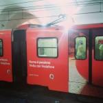 Vodafone: treno sponsorizzato metro Roma