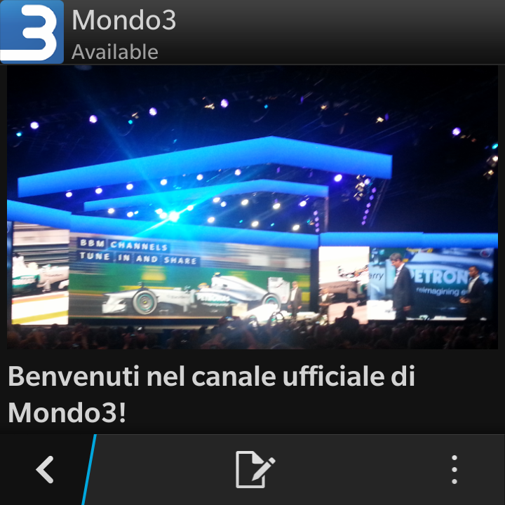 BBM Channel Mondo3 screenshot