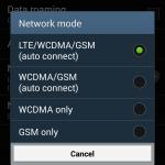 Samsung Galaxy S 4 Menu LTE Wind USIM 4G