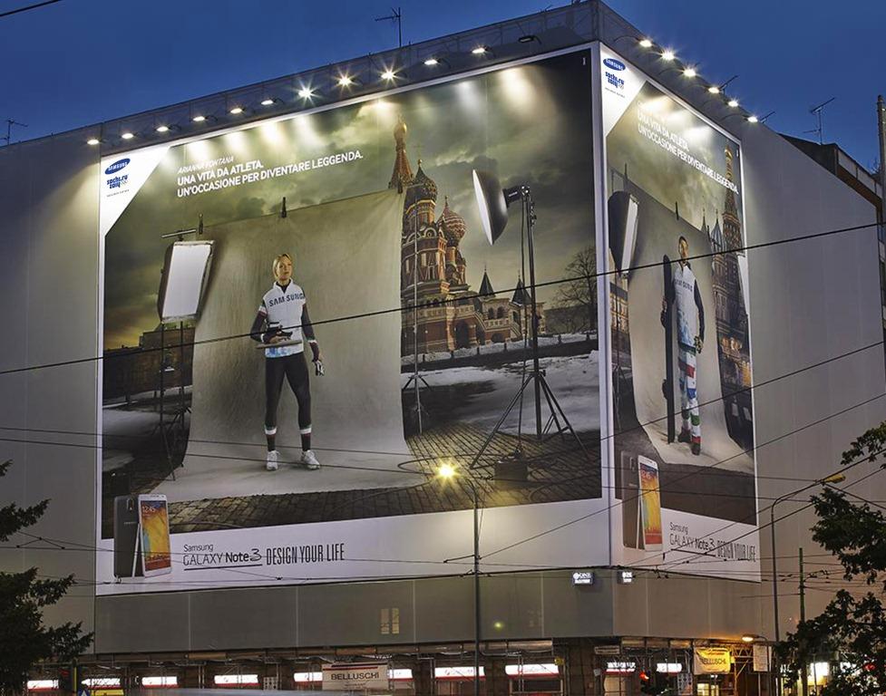 Affissione Samsung Ola Azzurra Sochi 2014