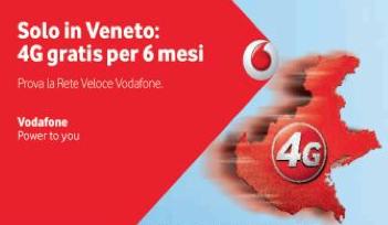 Extra 2GB 4G Speciale Veneto: LTE gratis 6 mesi