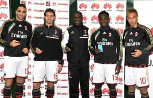Adil Rami, Riccardo Montolivo, Clarence Seedorf, Michael Essien, Keisuke Honda