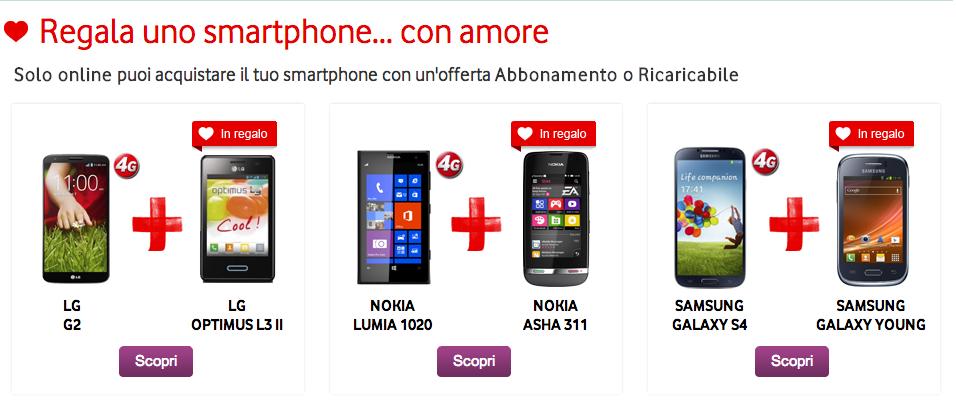 Promo San Valentino Vodafone