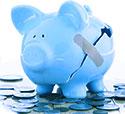 aumento costi, salvadanaio porcellino rotto