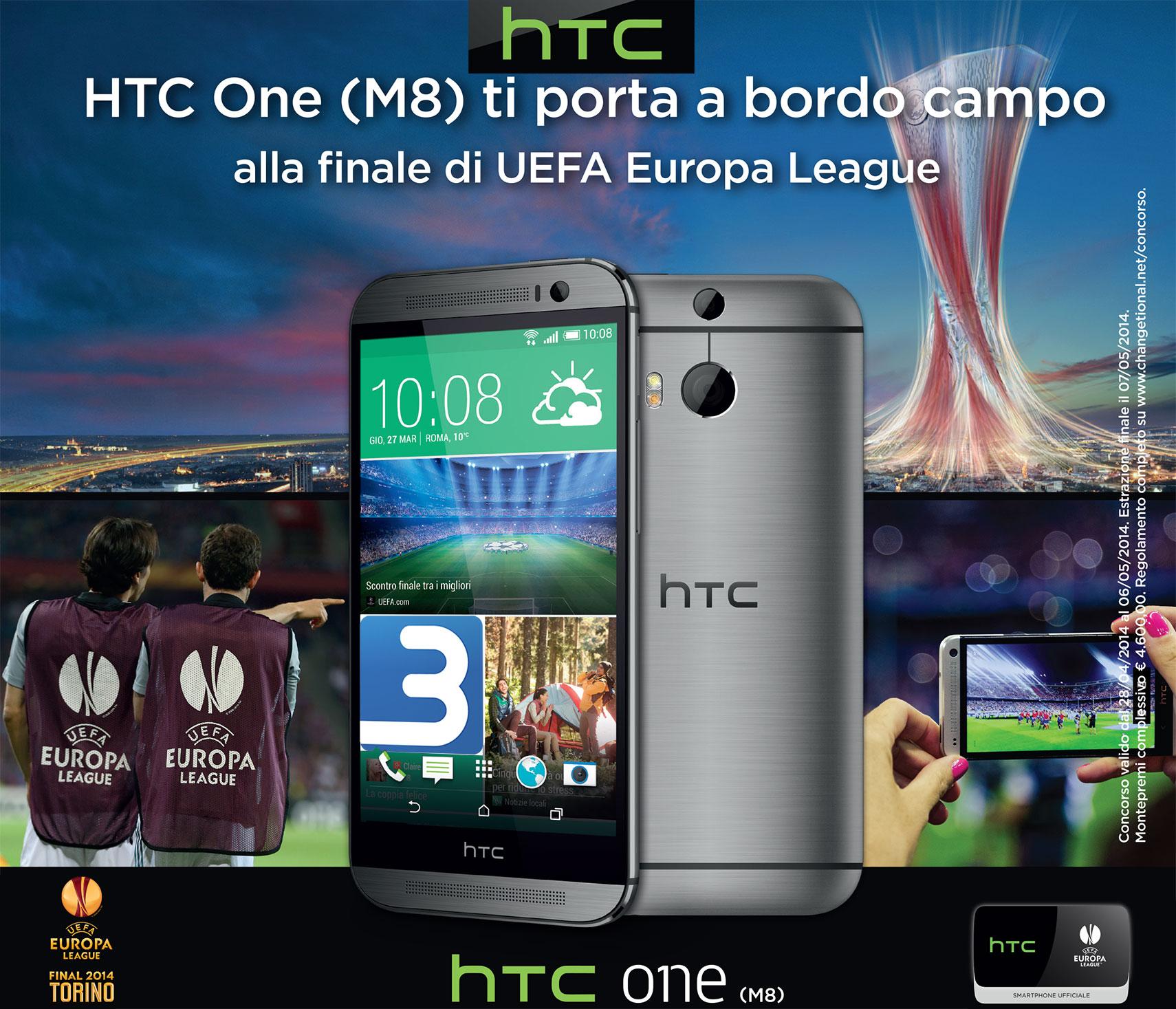 HTC One (M8) ti porta a bordo campo: vinci la finale di UEFA Europa League 2014 a Torino