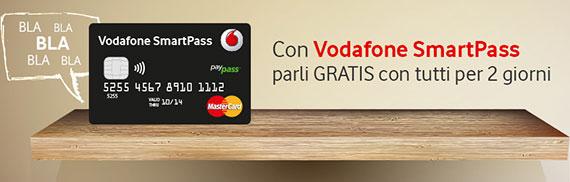Con Vodafone SmartPass Minuti Relax: chiamate GRATIS
