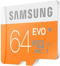 Samsung microSD EVO (arancione)