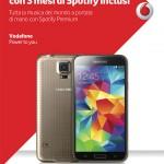 Vodafone Samsung Galaxy S5 gratis Spotify 3 mesi