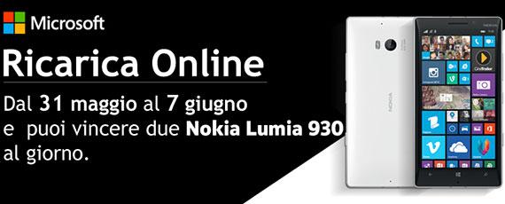 Ricarica Online Wind: dal 31 maggio al 7 giugno 2014 in palio il premio Nokia Lumia 930