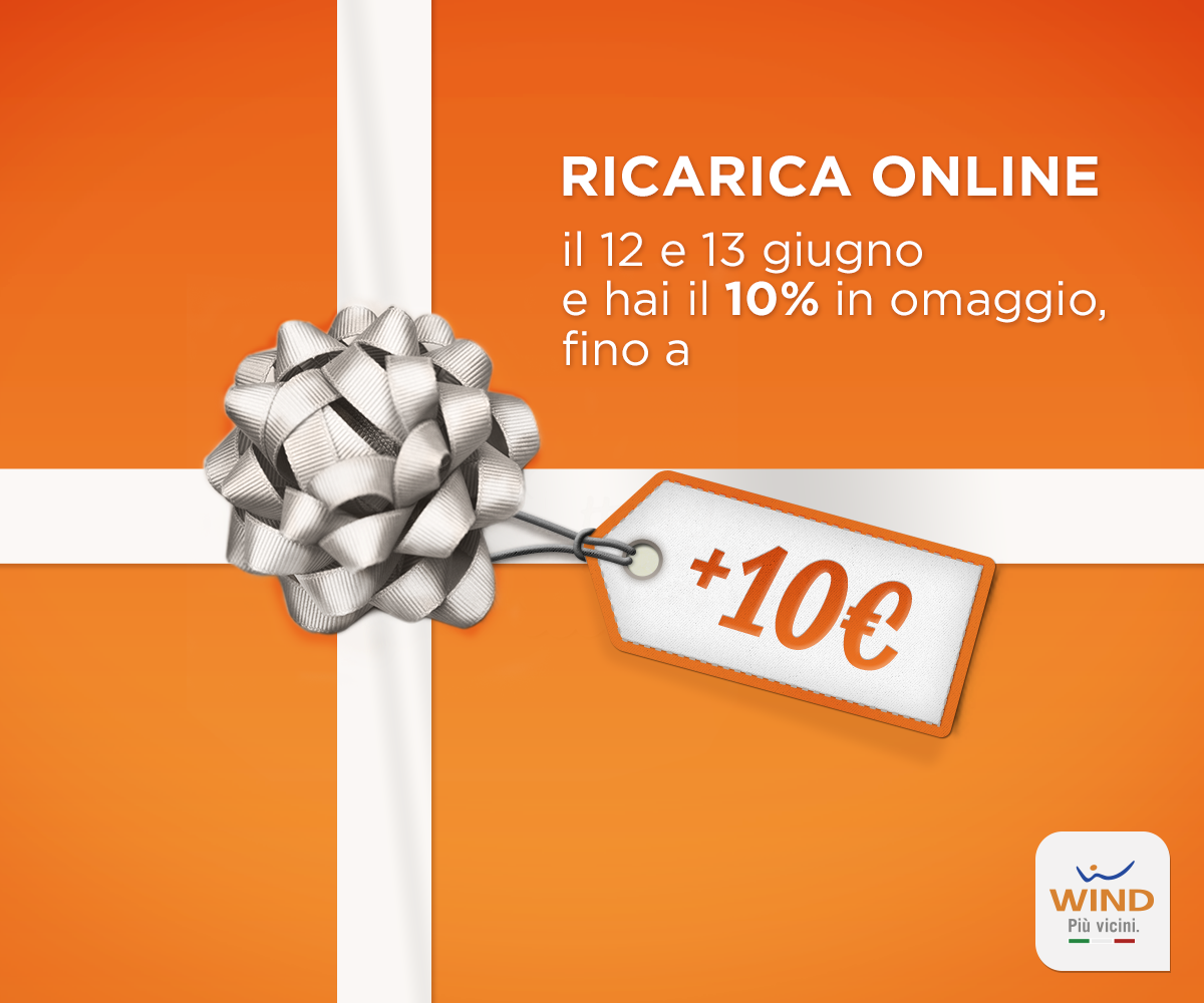 Wind Ricarica Online: promo bonus 10% giugno 2014