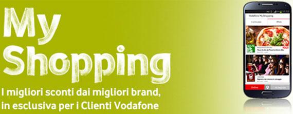 Vodafone My Shopping: App gratis per coupon e buoni sconto
