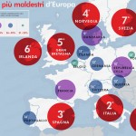 I Paesi più maldestri d'Europa (ricerca Squaretrade 2014)