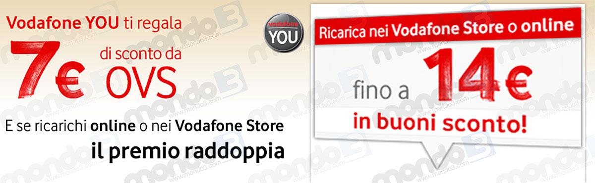 Vodafone You premio novembre 2014: buono sconto OVS