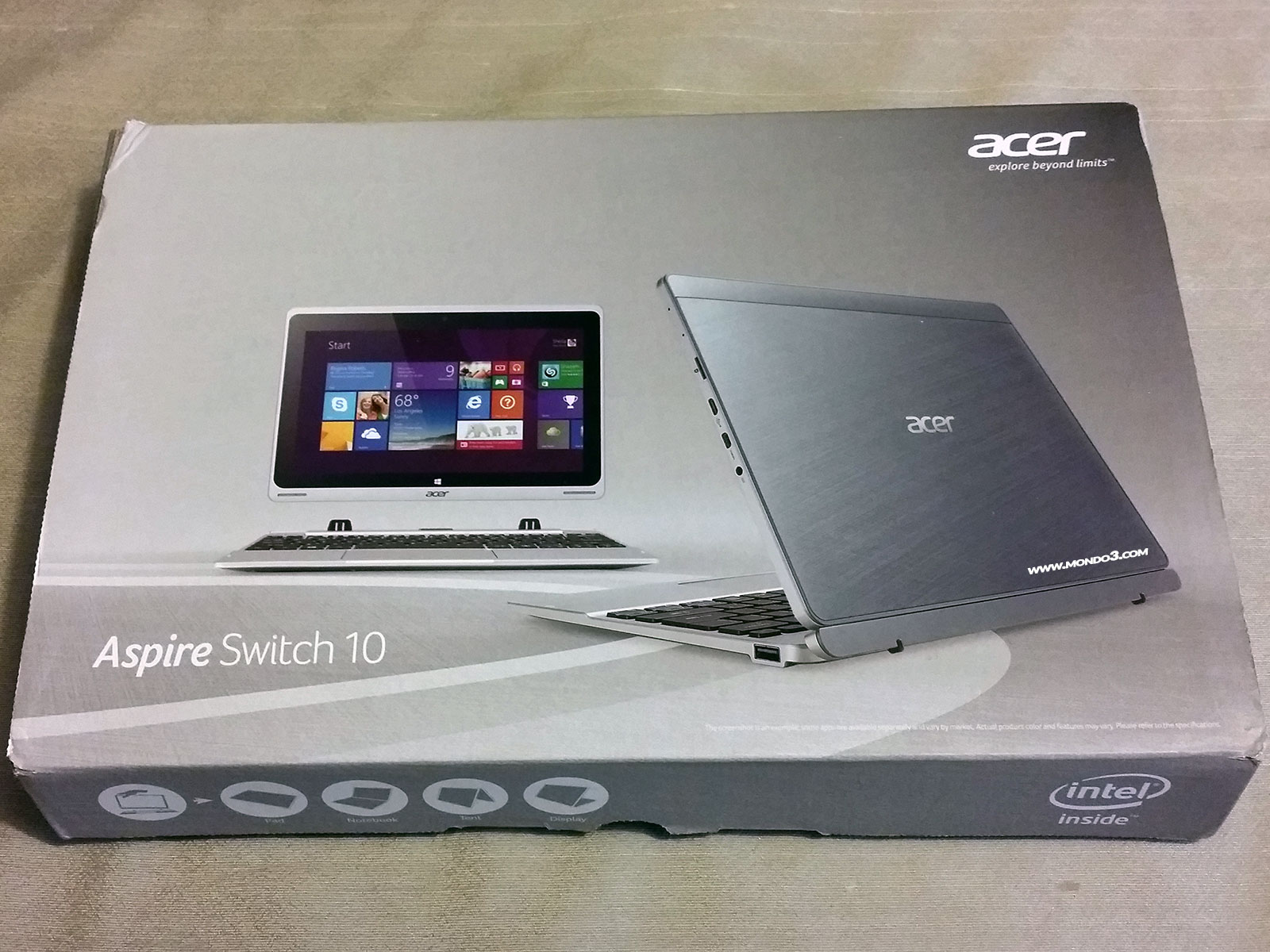 recensione tablet acer aspire switch 10 specifiche e prezzo. Black Bedroom Furniture Sets. Home Design Ideas