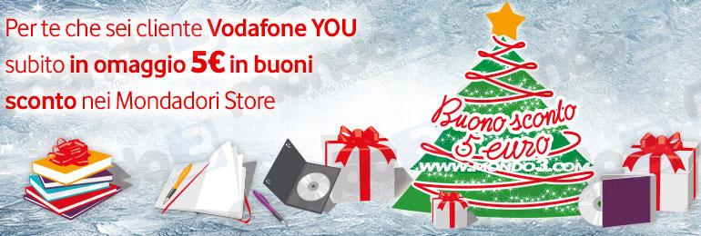 Vodafone You, il premio di dicembre 2014 (Natale): buono sconto Mondadori