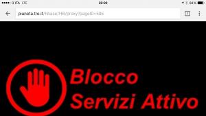 Blocco servizi attivo (barring wap premium H3G)