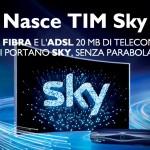 TIM Sky: offerta banda larga e TV in streaming