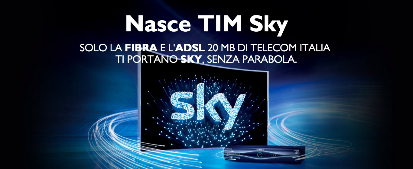 TIM Sky: offerta banda larga e TV in streaming