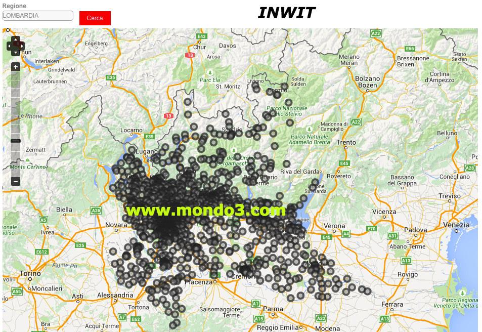 Mappa rete proprietaria iliad