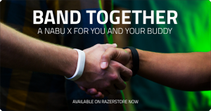"""lo smartband Razer Nabu X con la promozione 2 per 1 """"Band Together"""""""