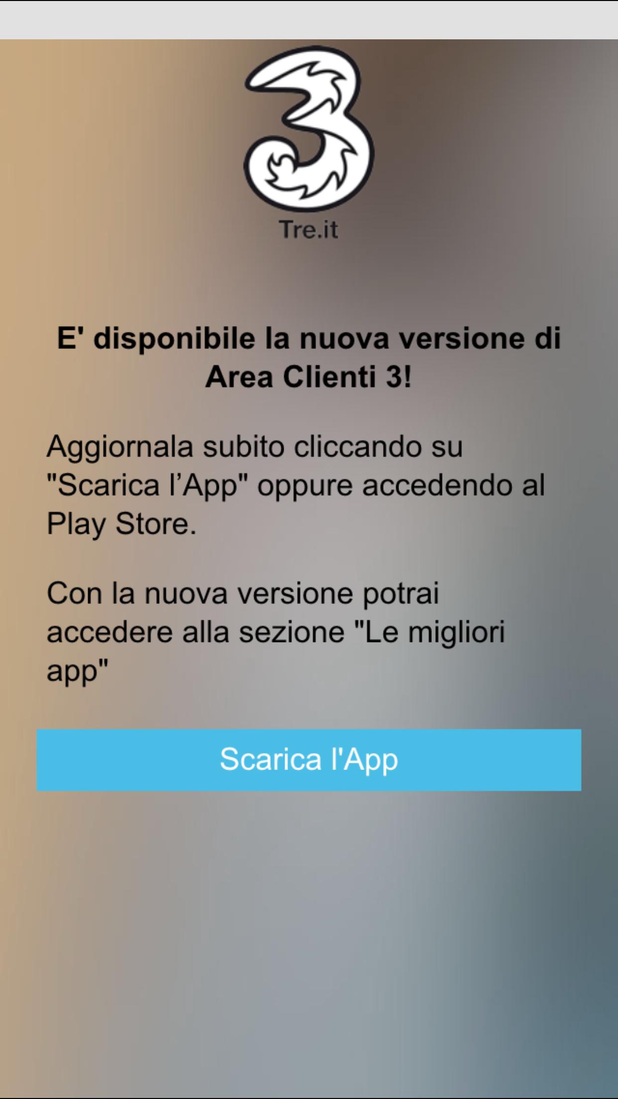 App Area Clienti 3 update 4.5.1 luglio 2015