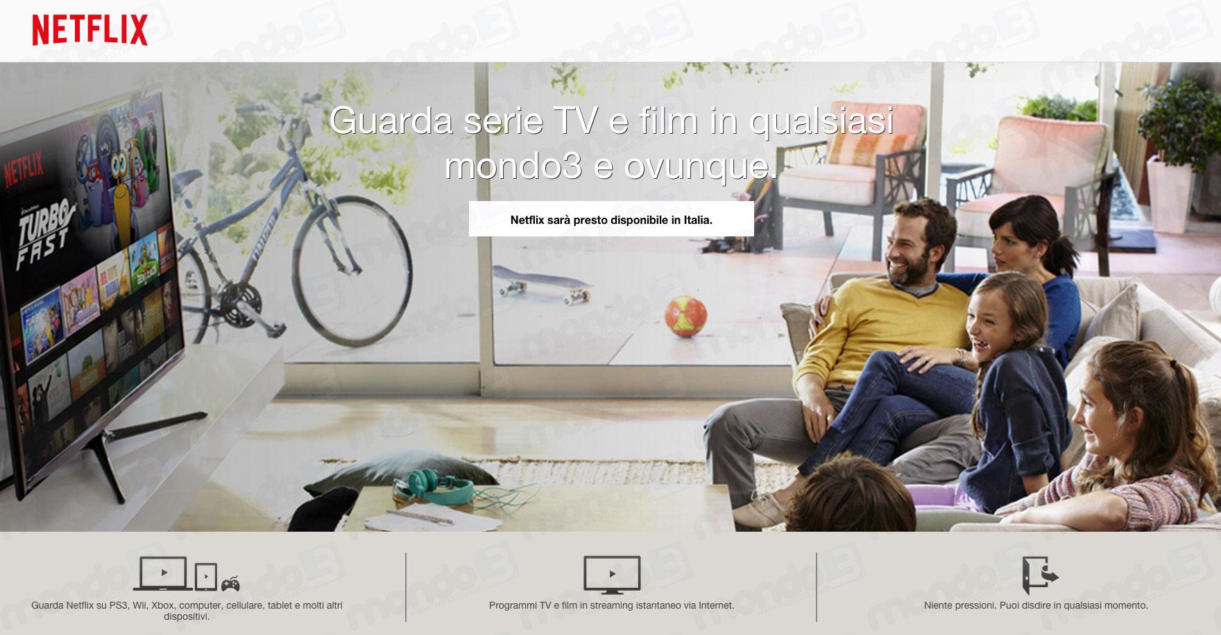 Netflix in Italia: presto in arrivo
