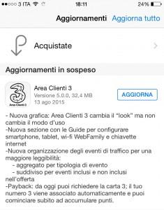 Area Clienti 3 iOS v. 5.0.0