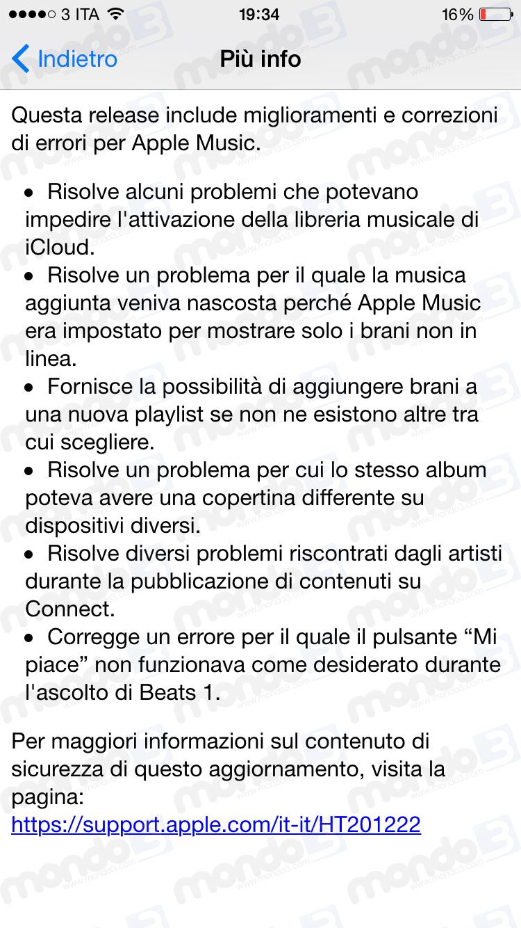 iOS 8.4.1 per iPhone e iPad