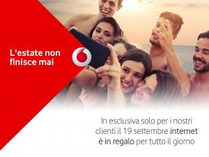 Con Vodafone l'estate non finisce mai: promo internet gratis 19 settembre 2015