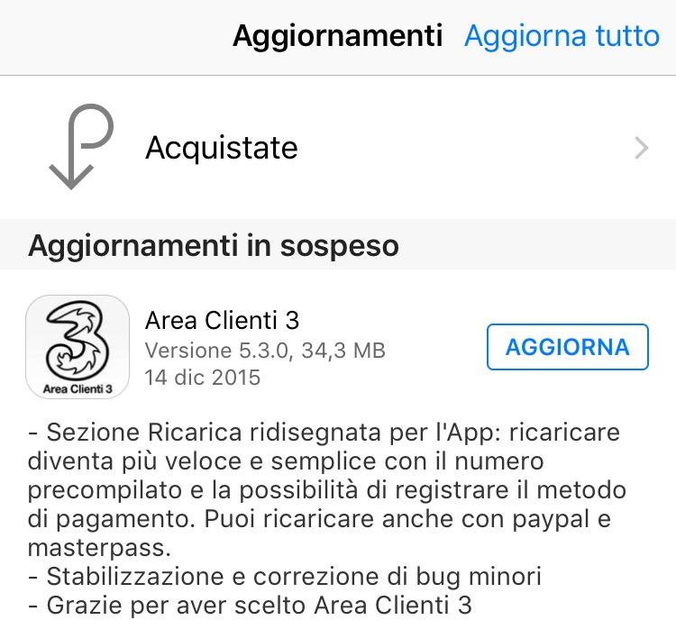 App Area Clienti 3 v. 5.3.0 per iOS