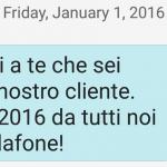 SMS di auguri 2016 da Vodafone agli ex clienti