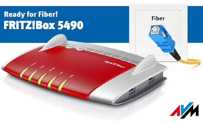 fritz box 5490 il router avm per la fibra ottica. Black Bedroom Furniture Sets. Home Design Ideas