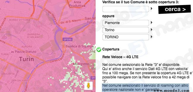 3 Italia: primo stop al roaming nazionale con TIM: Torino