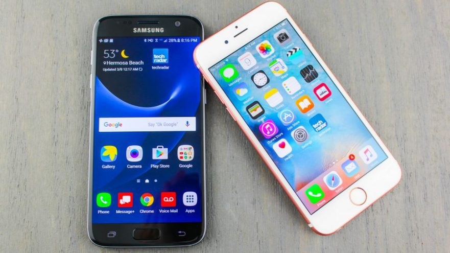samsung galaxy-s7 iphone 6s-