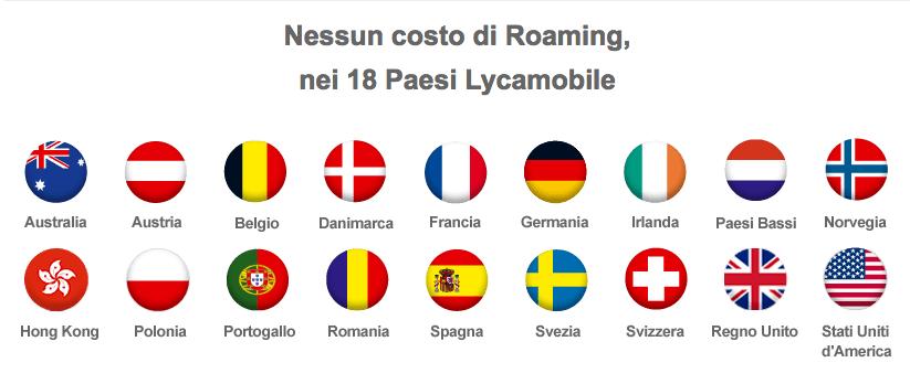 Lycamobile, Lu0027offerta Senza Costi Di Roaming: Ecco I 18 Paesi Dove Non Si  Paga
